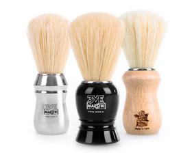 Retro četka za brijanje s dlakom jazavca